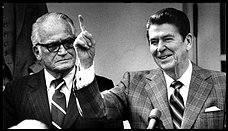 Barry Goldwater with Ronald Reagan